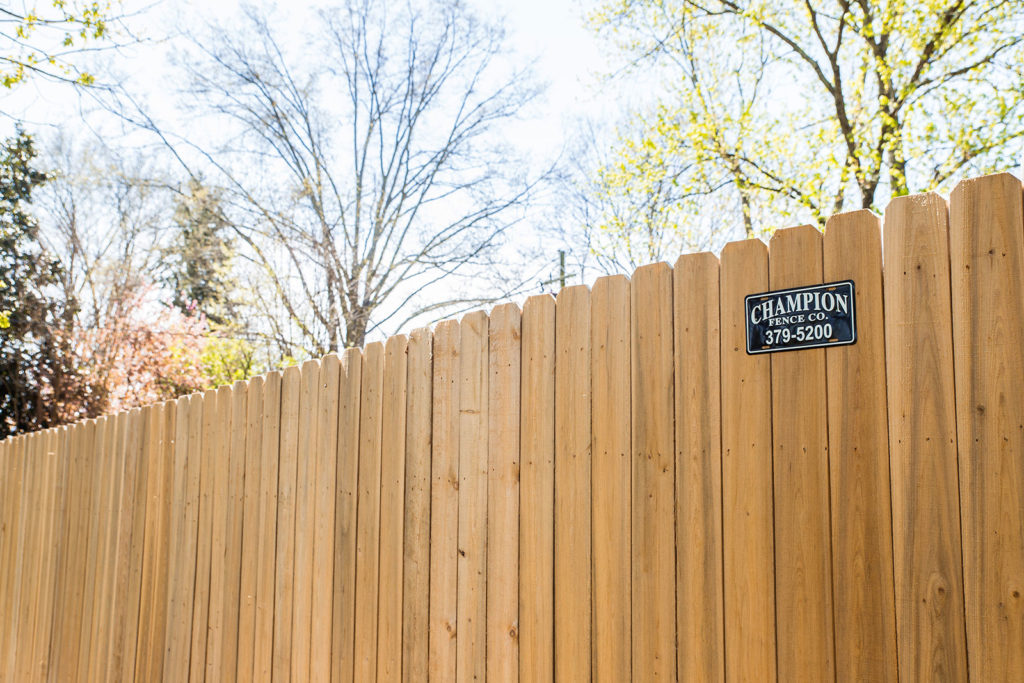 Cypress Straight Top Dog Ear Privacy Fence