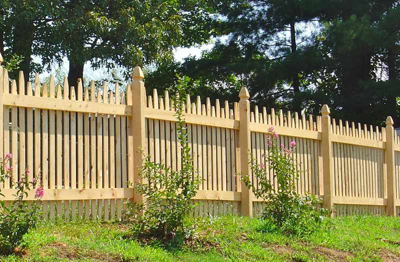 Wood Picket Fence Champion Fence Company Maryville