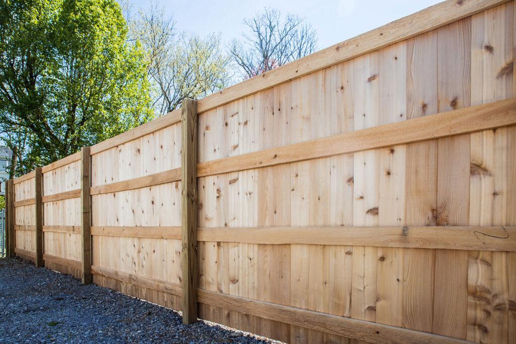 Cedar Bevel Overlap Fence