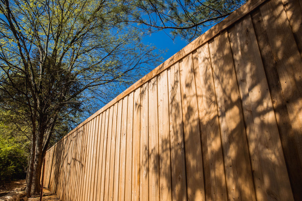 Cypress Board & Batten Fence